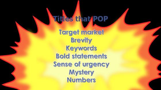Titles that POP