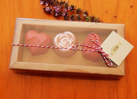 Caixa Corações + Rosa