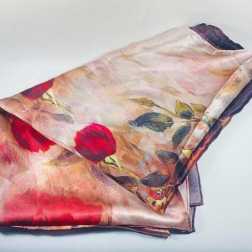 Rose silk shawl