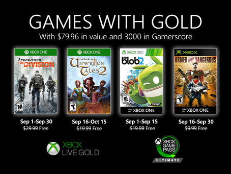 September 2020 Xbox Games with Gold revealed
