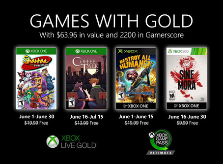 June 2020 Xbox Games with Gold revealed