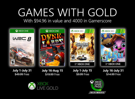 July 2020 Xbox Games with Gold revealed