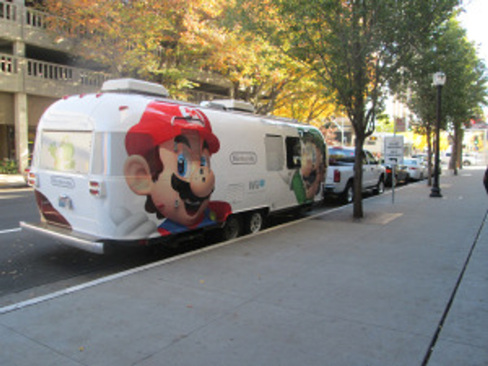 The Mario Bros. are displayed on the side of Nintendo's promo bus. Daniel Wilson | daniel.wilson8504@yahoo.com