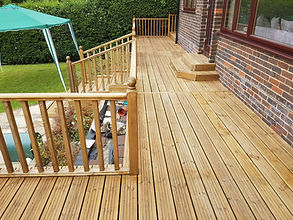 Decking outdoor space