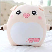 Stuffed Animal - This adorable plushie will make anyone happy. Piglet Plush toy makes a great gift for babies, boys, girls, family or friends. Stretchy and squishy bean toy, great as a pillow or just for hugs, also useable as a home decoration.