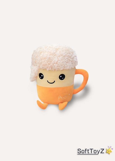 Stuffed Cute Happy Beer | SoftToyZ