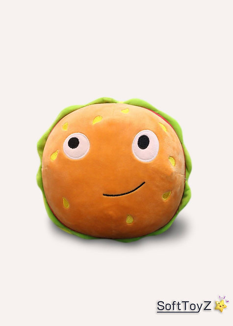 Creative Cartoon Hamburger Food Plush Pillow | SoftToyZ