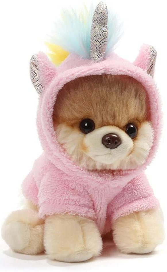 Famous internet pomerian dog Boo plush toy for kids unicorn pyjamas