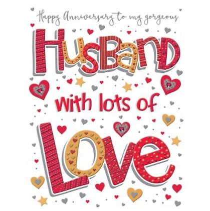 Pizzaz Range - Anniversary - Husband