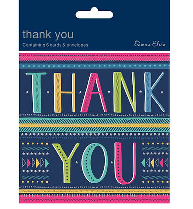 Thank you - Pack of 6