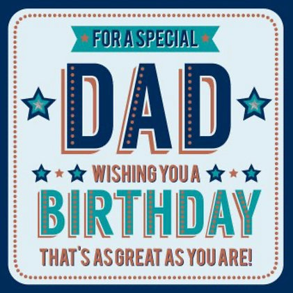 Birthday - Dad     (Large Boxed Card)