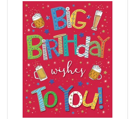Pizzaz Range, Birthday Card - Open