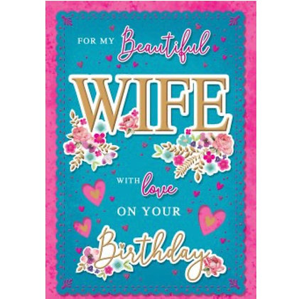 Birthday - Wife (Boxed Card)