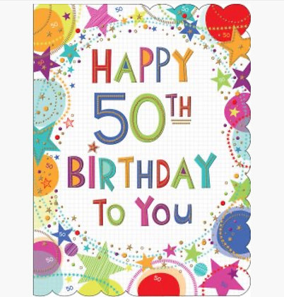 LARGE - Happy 50th Birthday To You