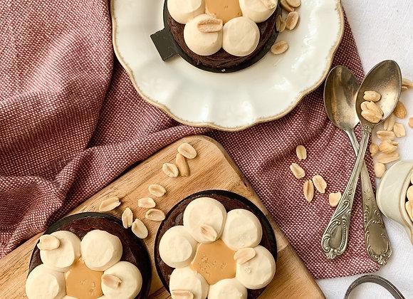 Fleur chocolat & cacahuète