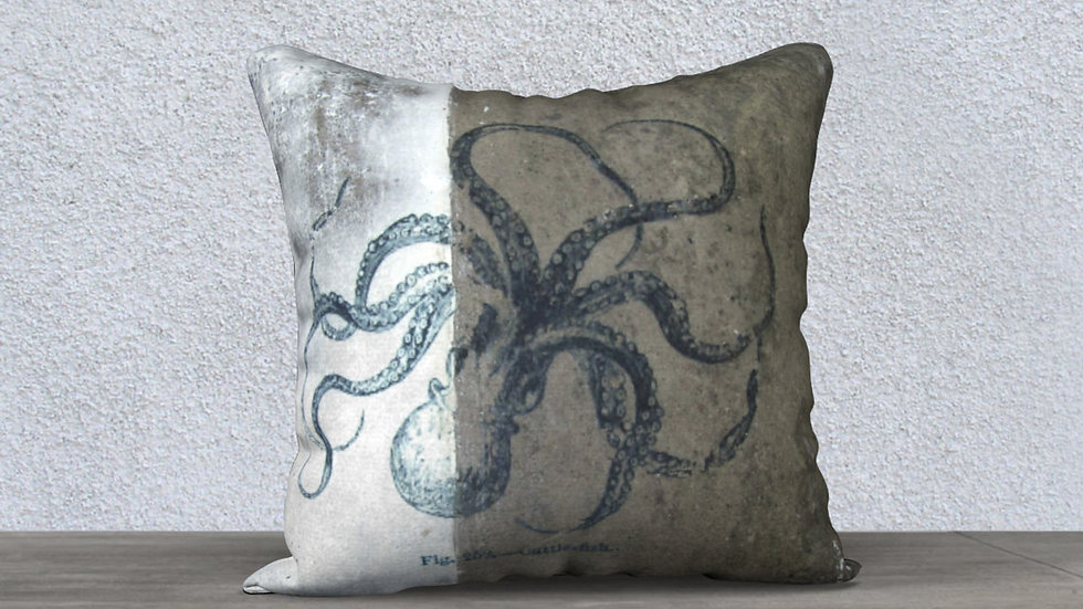 Concrete Cuttlefish - Pillow Case