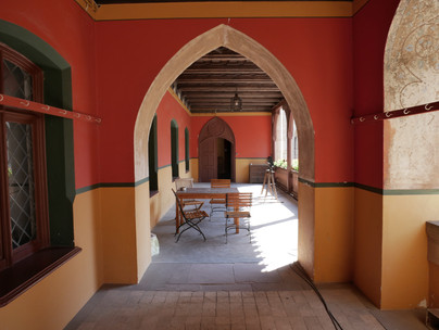 Offene Galerie zum Innenhof, Schloss Marienburg. Copyright Christine Fiedler