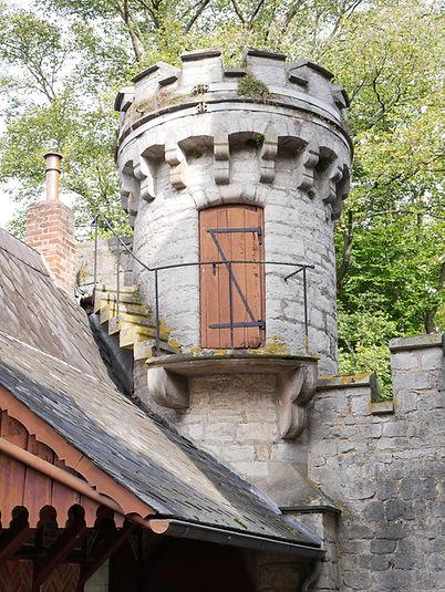 Hier können Sie die Schäden an den Bauteilen, wie beispielsweise an einem Turm an der umgebenden Mauer sehen, aus dem ein Baum wächst. Bild Copyright Christine Fiedler