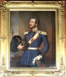 König Georg V. von Hannover, Gemälde von Joseph Stieler, Salon der Königin, Schloss Marienburg. Copyright Christine Fiedler