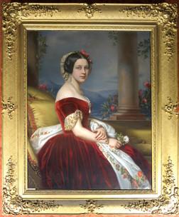 Königin Marie von Hannover, Gemälde von Joseph Stieler, Salon der Königin, Schloss. Marienburg. Copyright Christine Fiedler