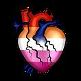 Pride Heart Lesbian