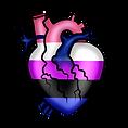 Pride Heart Genderfluid