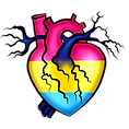 Pride Heart Pansexual