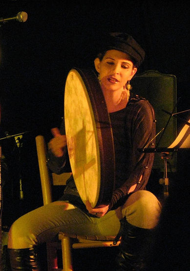 Rose Graves Playing XL Frame Drum