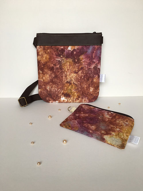 One of a kind handmade hand dyed original handbag