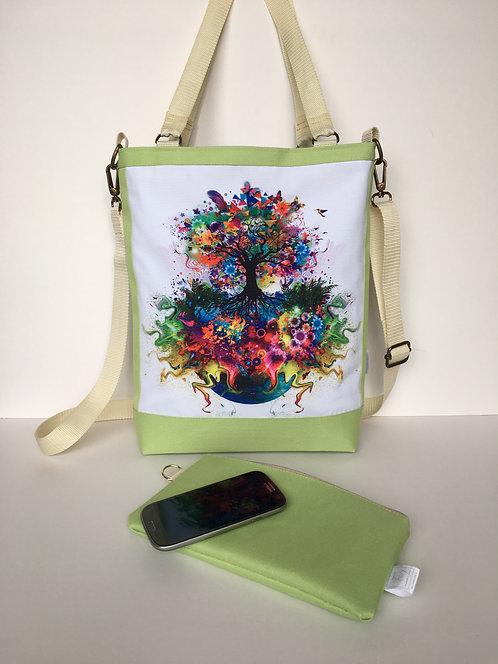 Unique one of a kind spacious A4 handbag