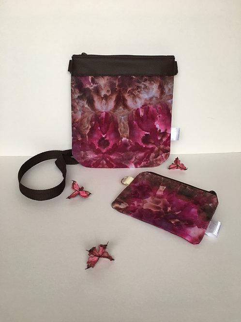 Real handmade original - hand dyed crossover handbag