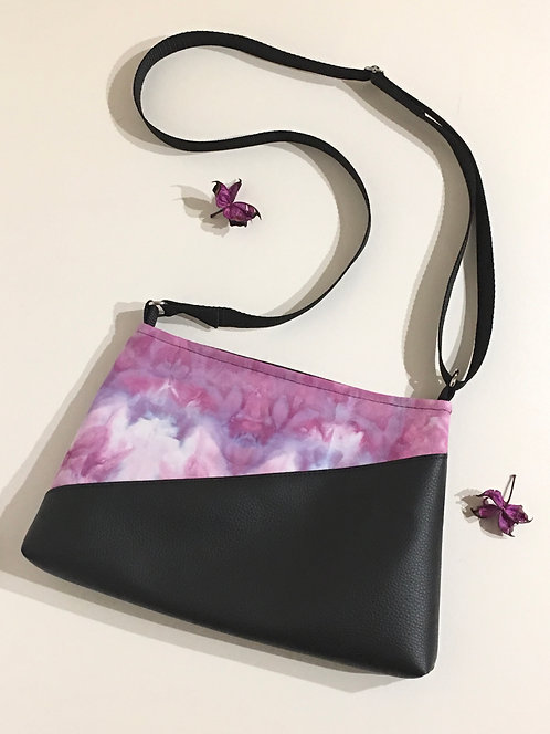 Small purple black handbag