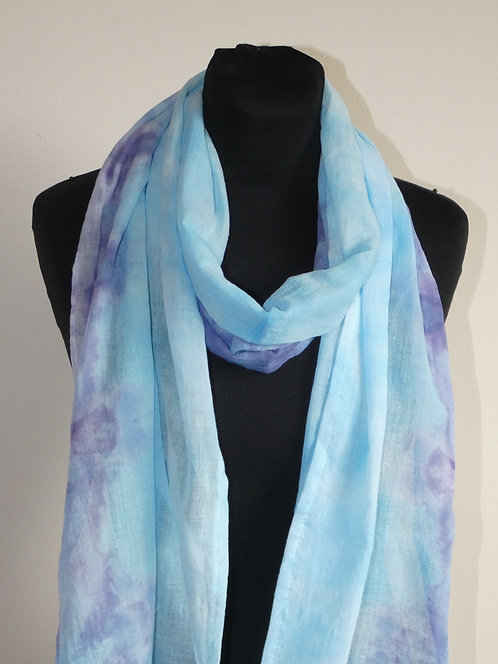 Turqoise hand dyed shawl