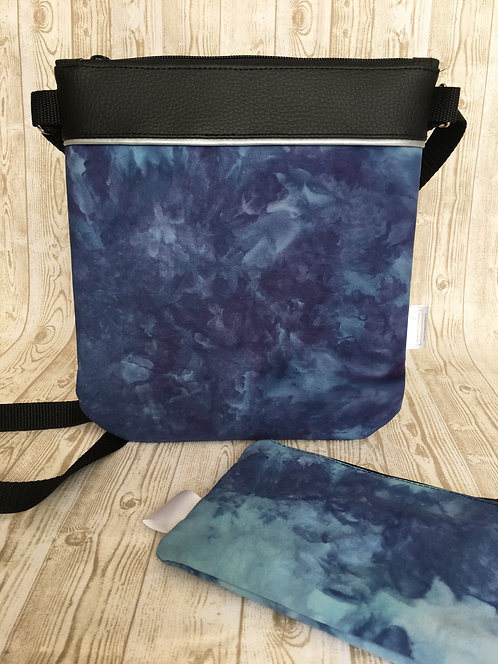 One of a kind hand dyed handbag