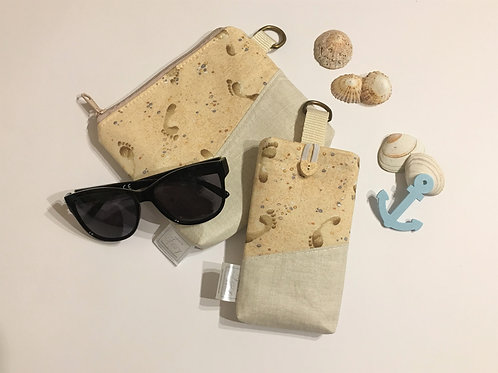 SET - mobile phone pouch and make-up bag