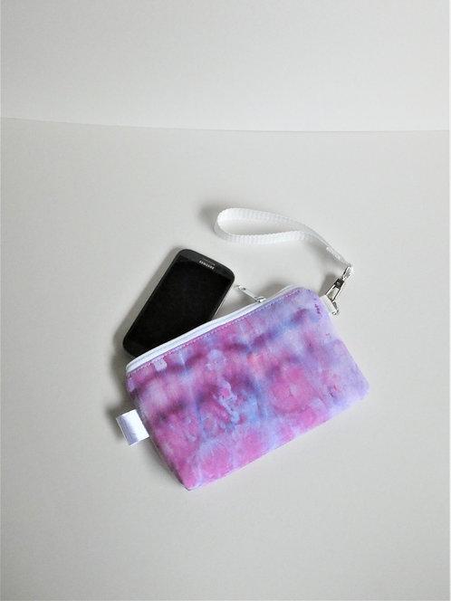 Purple pink wristlet