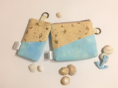 SET - make up bag and mobile phone pouch