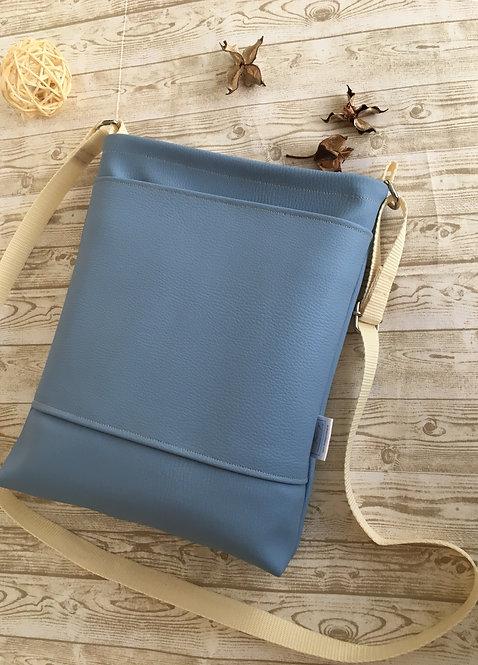 Light blue mid size crossbody bag