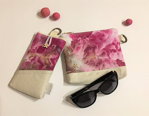 SET - make-up bag and mobile phone pouch