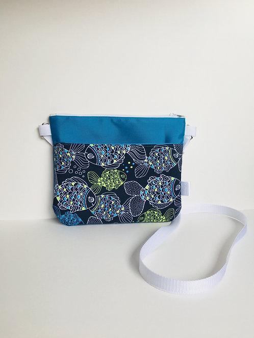 Small crossbody purse with happy carps