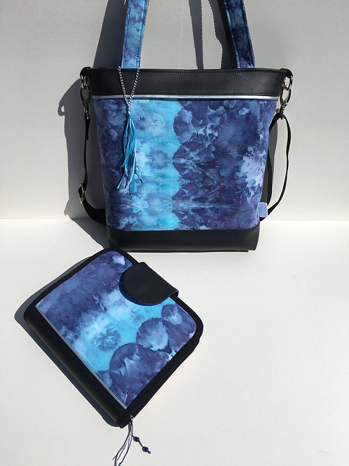 One of a kind set - handbag and A5 ring binder diary