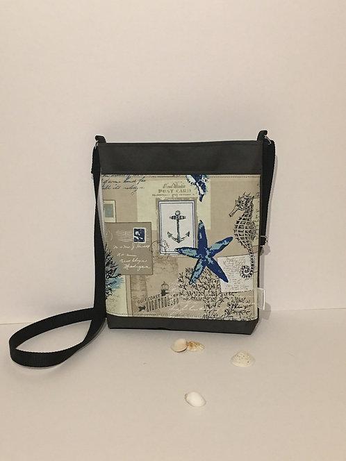 Ocean / sea themed mid size crossbody bag
