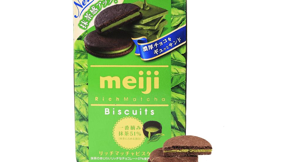 Meiji Rich Matcha Biscuits 99g.