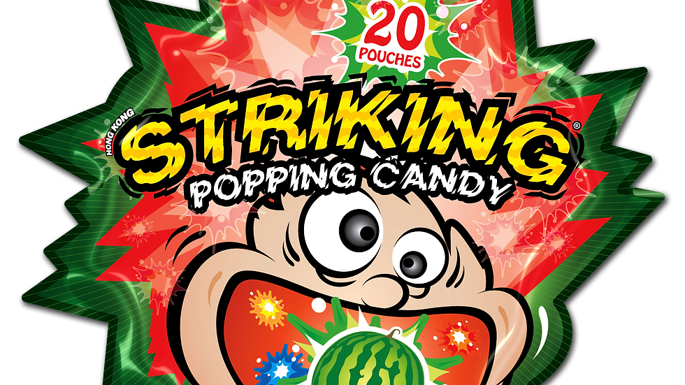Striking popping candy watermelon