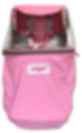 子供乗せ自転車のキッズ・レイン&ウィンドカバー(フロント)ピンク