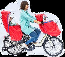子供乗せ自転車のキッズ・レイン&ウィンドカバーchibito