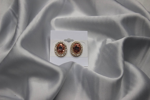 Rose Gold Diamond Stud