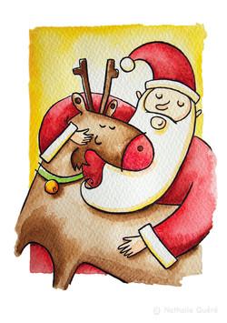 Santa et Rudolph