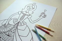 Poster à colorier - la princesse