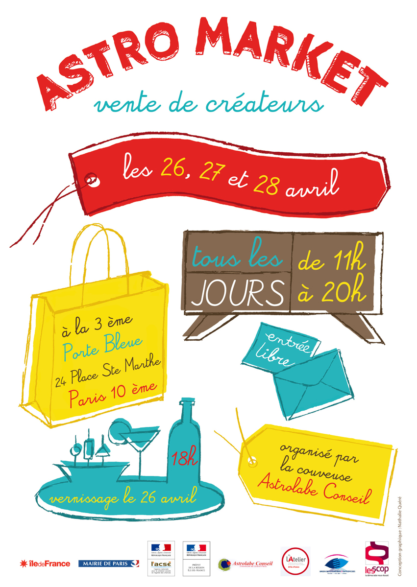 Affiche Astro market